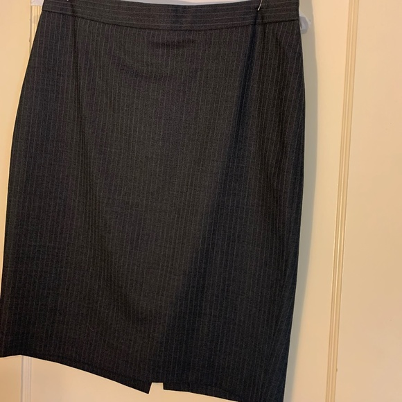 J. Crew Wool Pinstripe Skirt, Suiting